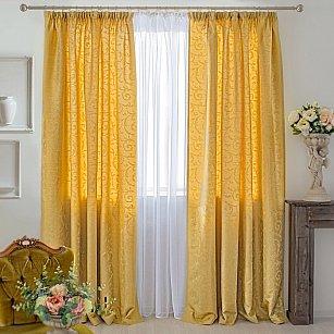 Комплект штор Fantezi-006, желтый