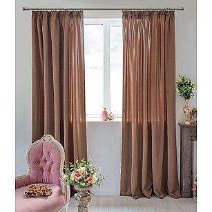 Комплект штор Duo-709, коричневый