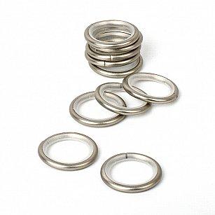 Комплект колец бесшумных с круглым сечением для металлического карниза, хром матовый, №100, диаметр 16 мм