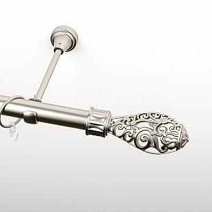 """Карниз металлический стыкованный, 1-рядный """"Версаль"""", хром матовый, гладкая труба, ø 25 мм"""