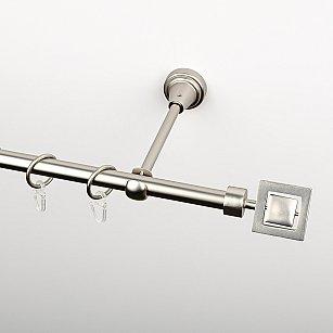 """Карниз металлический стыкованный, 1-рядный """"Гарда"""", хром матовый, гладкая труба, ø 16 мм"""