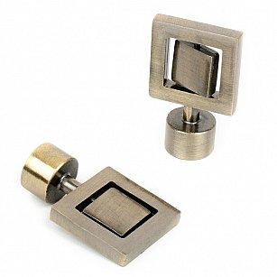 """Комплект наконечников для карниза """"Гарда"""", золото антик, ø16 мм"""