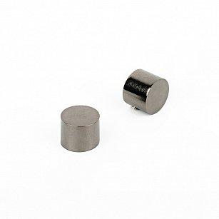 """Комплект заглушек """"Кап"""", черный никель, диаметр 19 мм"""