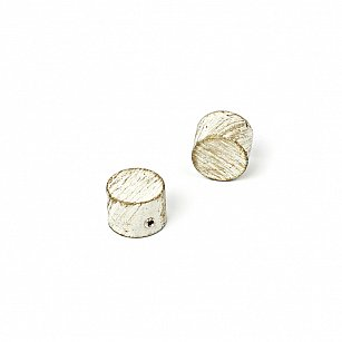 "Заглушка ""Кофу"", белое золото, диаметр 25 мм"