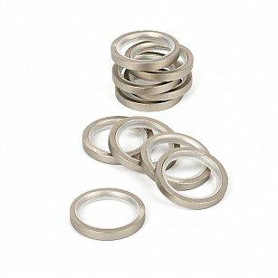 Комплект колец бесшумных с прямоугольным сечением для металлического карниза, хром матовый, №100, диаметр 16 мм