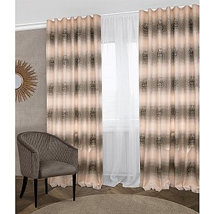 Комплект штор Klassik-700, розовый, 160*270 см
