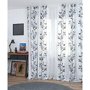 Комплект штор Flowers-21, серые цветы