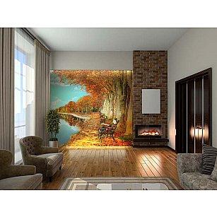 """Фотофреска на стену живопись """"Осенний пруд"""", 260*270 см"""