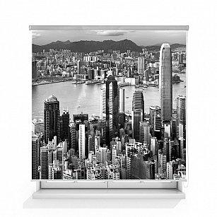 "Рулонная штора ролло лен ""Гонконг"""