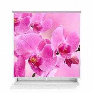 """Рулонная штора ролло лен """"Орхидея розовая"""", 140 см-A"""