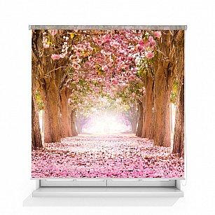 """Рулонная штора ролло термоблэкаут """"Цветущие деревья"""""""
