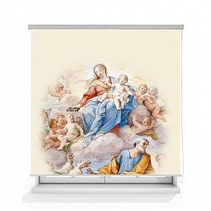 """Рулонная штора ролло лен """"Пресвятая Дева Мария фреска"""""""