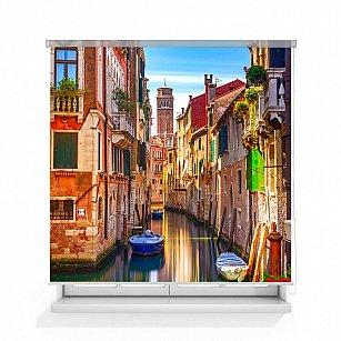 """Рулонная штора ролло термоблэкаут """"Балконы Венеции"""", 140 см-A"""