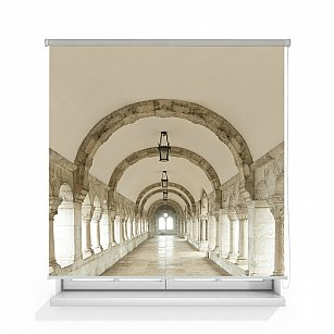"Рулонная штора ролло лен ""Белый коридор"""