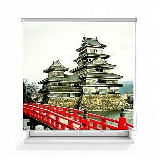 "Рулонная штора ролло лен ""Замок Мацумото"""