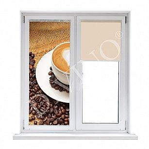 """Рулонная штора лен """"Чашка кофе"""""""