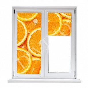 """Рулонная штора термоблэкаут """"Апельсиновый фон"""""""