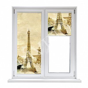 "Рулонная штора лен ""Париж винтаж"", 43 см-A"