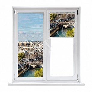 "Рулонная штора термоблэкаут ""Вид на Париж"""