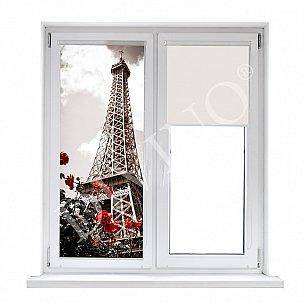 """Рулонная штора лен """"Весна в Париже"""", 62 см-A"""