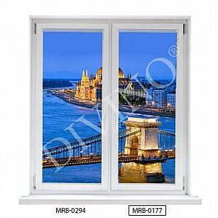 "Рулонная штора лен ""Мост в Будапеште"", 48 см-A"