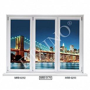 "Рулонная штора термоблэкаут ""Бруклинский мост"", 62 см-A"