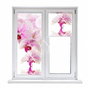 "Рулонная штора лен ""Розовая орхидея"""
