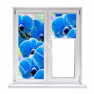 """Рулонная штора термоблэкаут """"Орхидея синяя"""""""