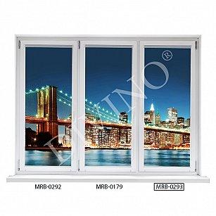 "Рулонная штора лен ""Бруклинский мост-3"", 62 см-A"