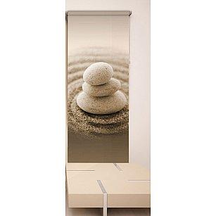 Рулонная штора ролло №138, коричневый, 60 см-A