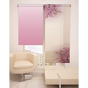 Рулонная штора ролло №5, розовый