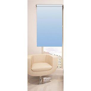 Рулонная штора ролло №264, голубой, 60 см