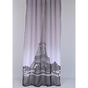 "Тюль ""Эйфелева Башня"", серый"