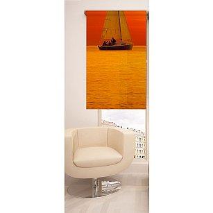 Рулонная штора ролло №7, оранжевый, 60 см-A