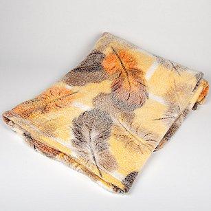 Плед Бамбук Перья, оранжевый, 180*200 см