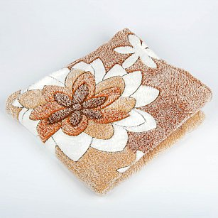 Плед Бамбук, Кувшинки коричневый, 180*200 см