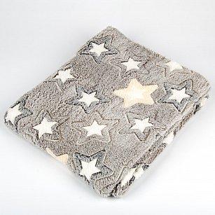 Плед Бамбук, Звезды на сером, 180*200 см