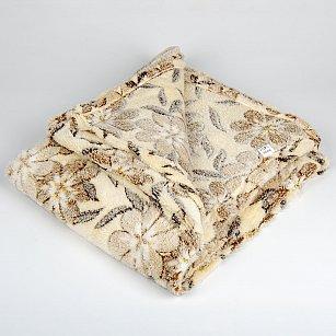 Плед Бамбук Цветы, коричневый, 180*200 см