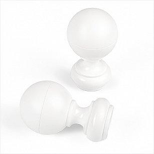 """Комплект наконечников из пластмассы для карниза """"Кайро"""", белый"""