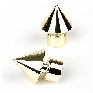 """Наконечник из металлизированной пластмассы для карниза """"Футура"""", латунь, ø28 мм"""