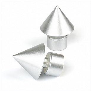 """Наконечник из металлизированной пластмассы для карниза """"Футура"""", серебро матовое, ø28 мм"""