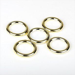 Комплект колец из металлизированной пластмассы для металлического карниза, золото, диаметр 28 мм