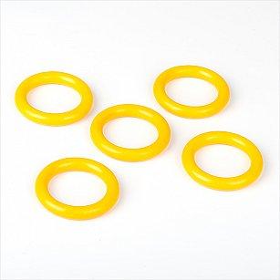 Комплект колец из пластмассы для металлического карниза, желтый, диаметр 28 мм