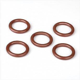 Комплект колец из пластмассы для металлического карниза, красное дерево, диаметр 28 мм
