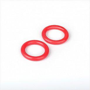 Комплект колец из пластмассы для металлического карниза, красный, диаметр 28 мм
