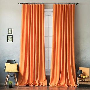 """Комплект штор """"Билли"""", оранжевый, 170*270 см"""