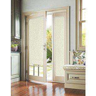 """Рулонная штора для балконной двери """"Агат молочный"""""""