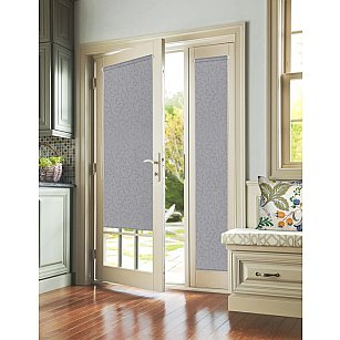 """Рулонная штора для балконной двери """"Агат серый"""""""