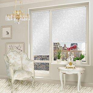 """Рулонная штора для балконной двери """"Арабеска белый"""""""