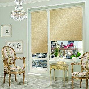 """Рулонная штора для балконной двери """"Арабеска капучино"""""""